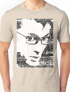 David Tennant 10th Doctor Word Portrait T-Shirt Unisex T-Shirt