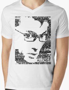 David Tennant 10th Doctor Word Portrait T-Shirt Mens V-Neck T-Shirt