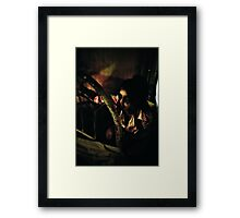Santa left this at the end of your bed...... Framed Print