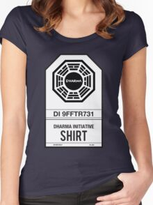 DHARMA Initiative T-Shirt Women's Fitted Scoop T-Shirt