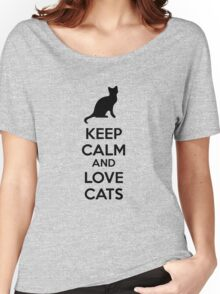 Keep calm and love cats Women's Relaxed Fit T-Shirt