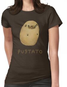 Pugtato Womens Fitted T-Shirt