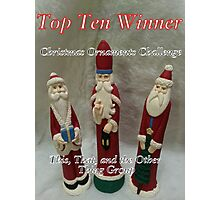 Top Ten - Christmas Ornaments Photographic Print
