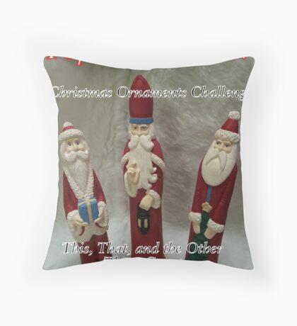 Top Ten - Christmas Ornaments Throw Pillow