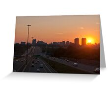 Highway 401 West of Don Mills (#364) Greeting Card
