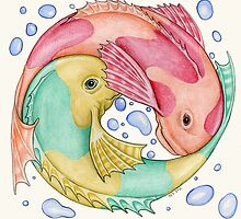 Circling Fish Mandala by Carolyn Watson-Dubisch