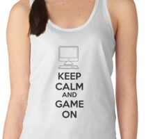 Keep calm and game on Women's Tank Top