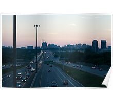 Highway 401 West of Don Mills (#398) Poster