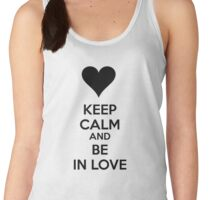 Keep calm and be in love Women's Tank Top