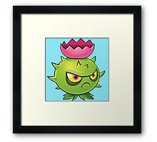 zombie cartoon Framed Print