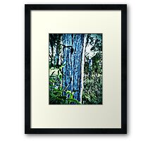 Rustic Post Framed Print