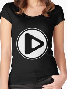 Play Button Women's Fitted Scoop T-Shirt