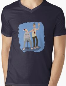 Yippeekiyay Mr. Falcoln Mens V-Neck T-Shirt