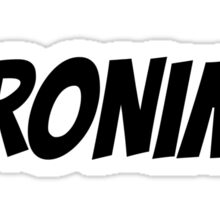 GERONIMO!  (Black Text) Sticker