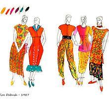 Fashion Illustrations- 1987 by Nira Dabush