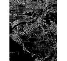 Riverside map California Photographic Print