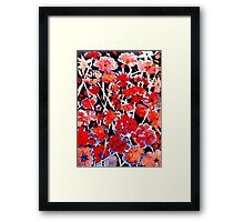 Red Flower Etching No.2 Framed Print