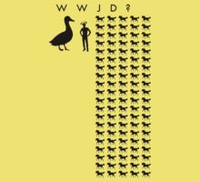 WWJD? Horse-Sized Duck or 100 Duck-Sized Horses by jezkemp