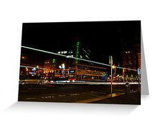 Night Time Neon Lights Greeting Card