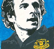 Leighton Baines Everton Comic Book Painting by chrisjh2210