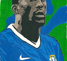 Sylvain Distin Comic Book Style Painting by chrisjh2210