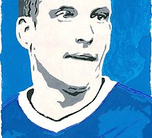 Leon Osman Comic Book Style Painting by chrisjh2210