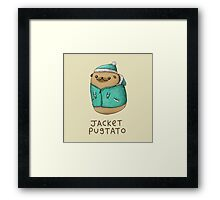 Jacket Pugtato Framed Print