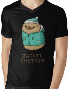 Jacket Pugtato Mens V-Neck T-Shirt