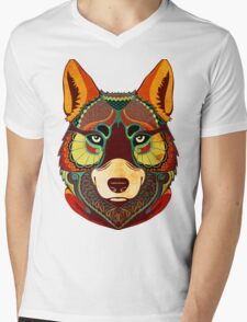 The Wolf Mens V-Neck T-Shirt