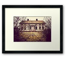 Creepy Abandoned House Framed Print