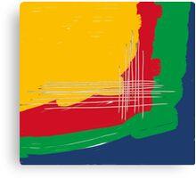 primary colors theme Canvas Print