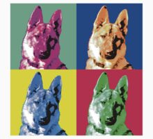 German Shepherd Pop Art Kids Clothes