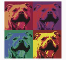 Pit Bull Pop Art by Chunga