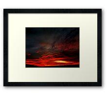 October Sunset III Framed Print