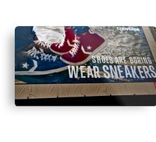 Shoes Are Boring Metal Print