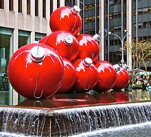 2)  Giant Ornaments-- Avenue of the Americas (6th Avenue) by Sassafras