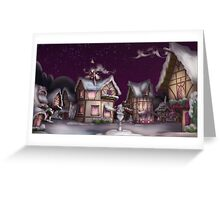 Ponyville, Dusk, Snowy Greeting Card
