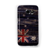 Vintage Australia Flag - Cracked Grunge Wood Samsung Galaxy Case/Skin