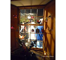 Christmas in the Adobes—Monterey—Window to the Past Photographic Print