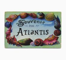 Vintage Postcard: Souvenir from Atlantis by Chunga