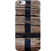 Vintage Finland Flag - Cracked Grunge Wood iPhone Case/Skin