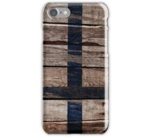 Vintage Finland Flag - Cracked Grunge Wood iPhone Case/Skin