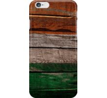 Vintage Ireland Flag - Cracked Grunge Wood iPhone Case/Skin