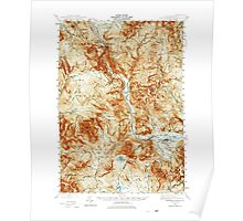 USGS TOPO Map New Hampshire NH Crawford Notch 329986 1946 62500 Poster