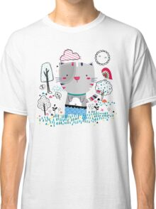 Cat in the Garden Classic T-Shirt