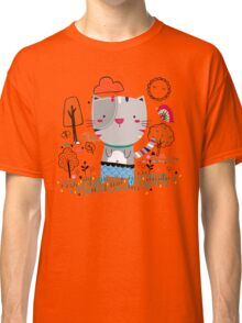 Cat in the Garden Classic T-Shirt