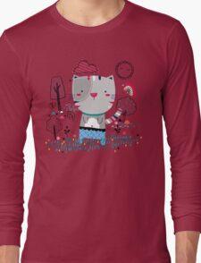 Cat in the Garden Long Sleeve T-Shirt
