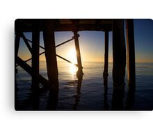 Under the Jetty at Oceans Tide  Canvas Print