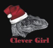 Clever girl funny Velociraptor Christmas tee    Baby Tee