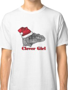 Clever girl funny Velociraptor Christmas tee    Classic T-Shirt